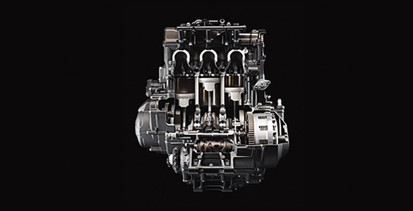 850cc 3-cylinder liquid-cooled 4-valve engine