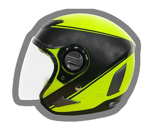 Helm Desain Supermoto YF-N5 MTX Fluo
